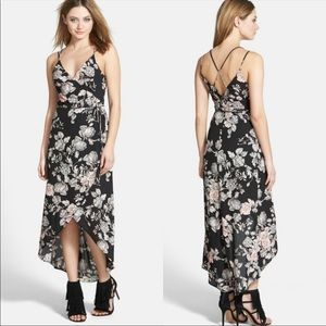 Astr the label floral print wrap dress